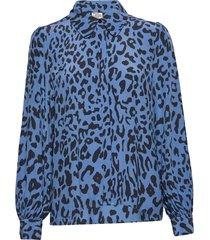 mafalda blouse lange mouwen blauw baum und pferdgarten