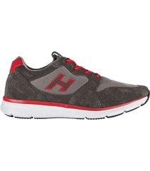 scarpe sneakers uomo camoscio h254 h flock