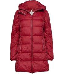 jacket gevoerde lange jas rood signal