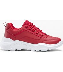 sneaker con plateau (rosso) - rainbow