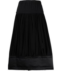 comme des garçons high-waisted tiered skirt - black