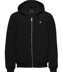 softshell jacket hoodie trui zwart lyle & scott