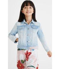 denim jacket swiss embroidery - blue - 13/14