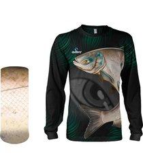 camisa + máscara pesca quisty carpa cabeçuda proteção uv dryfit infantil/adulto - camiseta de pesca quisty