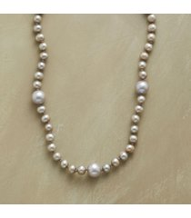 silvery satellite pearl necklace