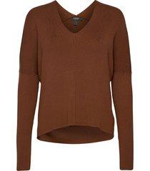 sweaters stickad tröja brun esprit collection