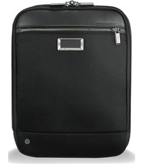 men's briggs & riley @work expandable ballistic nylon crossbody bag with rfid pocket - black