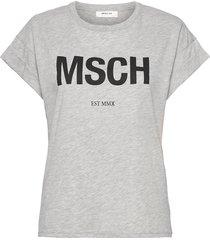 alva msch std tee t-shirts & tops short-sleeved grå moss copenhagen