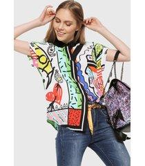 camisa multicolor desigual