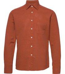 flannel button-under collar shirt overhemd casual oranje eton