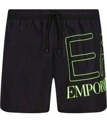 emporio armani ea7 zwembroek zwart met groot logo