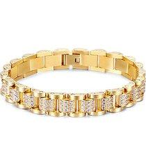colton cubic zirconia & goldplated titanium chain link bracelet
