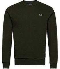 arch branded sweatsh. sweat-shirt tröja grön fred perry