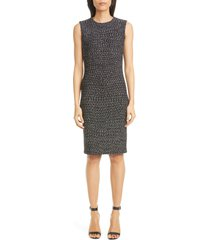 women's st. john collection marled ribbon tweed knit sheath dress