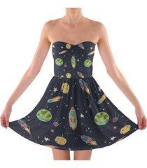 space flight sweetheart strapless skater dress