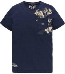 t-shirt single donkerblauw