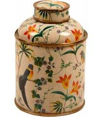 vaso decorativo de porcelana com bronze jahan i pequeno
