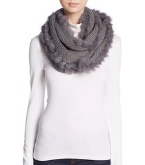 rabbit fur-trimmed infinity scarf