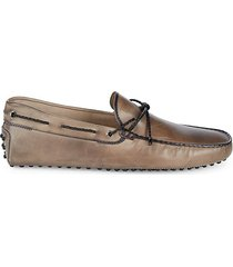 leather tie driver shoes
