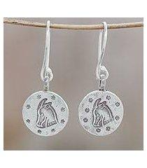 silver dangle earrings, 'karen capricorn' (thailand)