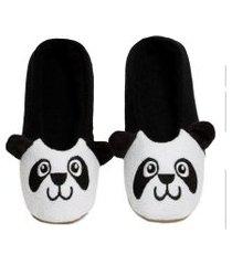 sapatilha cotton pantufa  infantil de panda quentinha