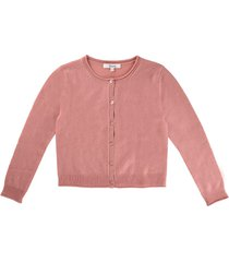 bonpoint pink cardigan in cashmere