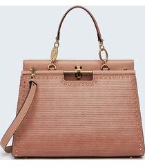 motivi borsa iconic a soffietto con borchie donna rosa