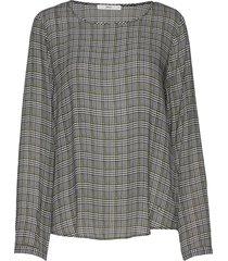 style.veronique blouse lange mouwen groen brax