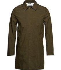 carter sharp cotton dunne lange jas groen j. lindeberg