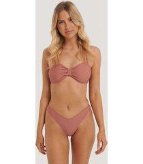 na-kd swimwear v-formad bikiniunderdel - pink
