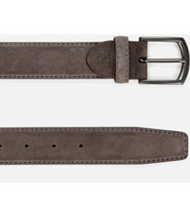 canali men's suede belt - grey - 90cm