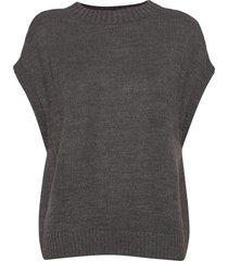onlnadja s/l waistcoat knt knitwear knitted t-shirts/tops grå only
