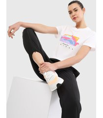 camiseta blanco-multicolor adidas originals fakten estampada