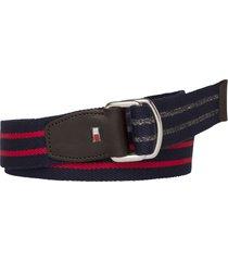 cinturón azul tommy hilfiger th stp webbing belt
