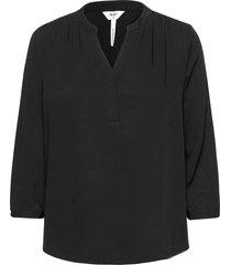 objbaya 3/4 v-neck blouse noos blus långärmad svart object