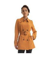 trench coat rigotto new york amarelo