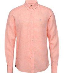 douglas linen shirt overhemd casual roze morris