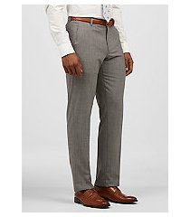 1905 collection slim fit flat front micro check sorona® dress pants by jos. a. bank