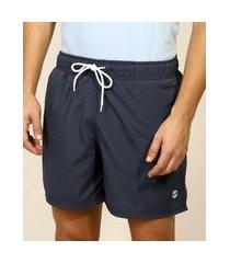 short masculino com bolsos e cordão azul marinho