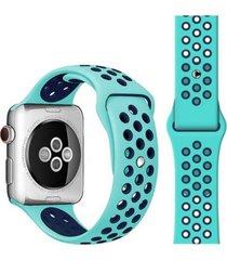 pulsera apple watch silicona turquesa todobags