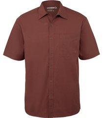 wolverine men's cooper short sleeve shirt barn red, size xxl