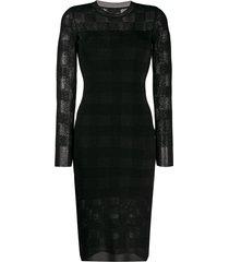 rag & bone slim fit tartan dress - black