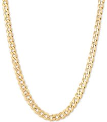 """flat curb link 18"""" chain necklace in 18k gold-plated sterling silver"""
