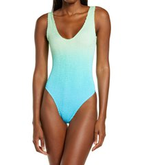 women's bound by bond-eye the mara ombre one-piece swimsuit, size one size - blue