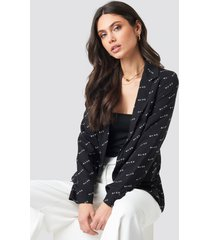 na-kd trend na-kd logo blazer - black