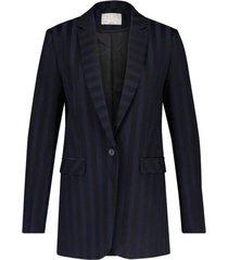 donker blauw/zwart gestreepte blazer aaiko - 193921 senalda