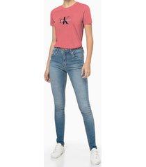 blusa feminina estampa ck rosa calvin klein jeans - pp