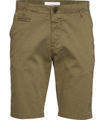 chuck regular chino shorts - gots/v shorts chinos shorts grön knowledge cotton apparel