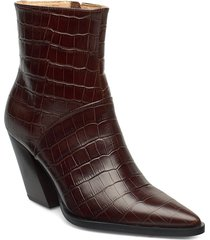 escape from the west ankle boot shoes boots ankle boots ankle boots with heel brun anny nord