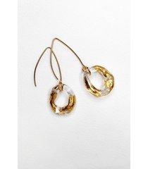 amorphic - złocone kolczyki ze szkła